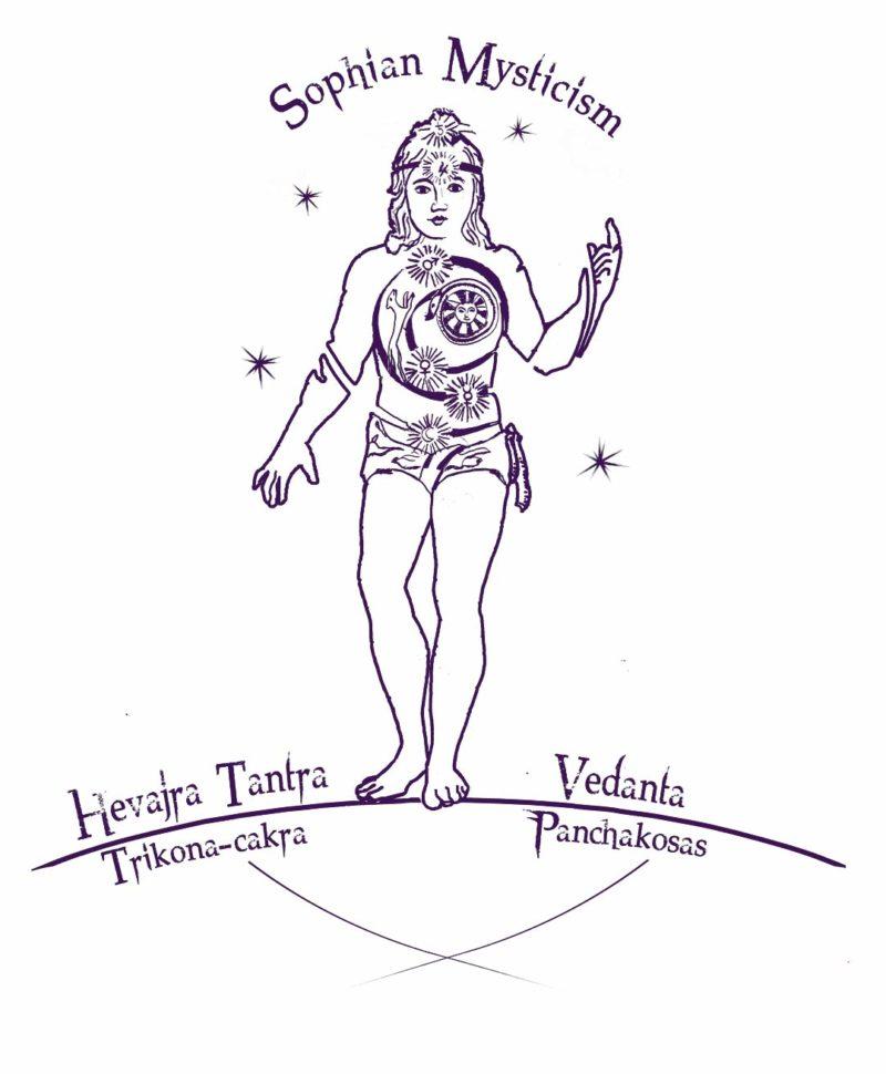 drawing sophia mysticism pen and ink rendering