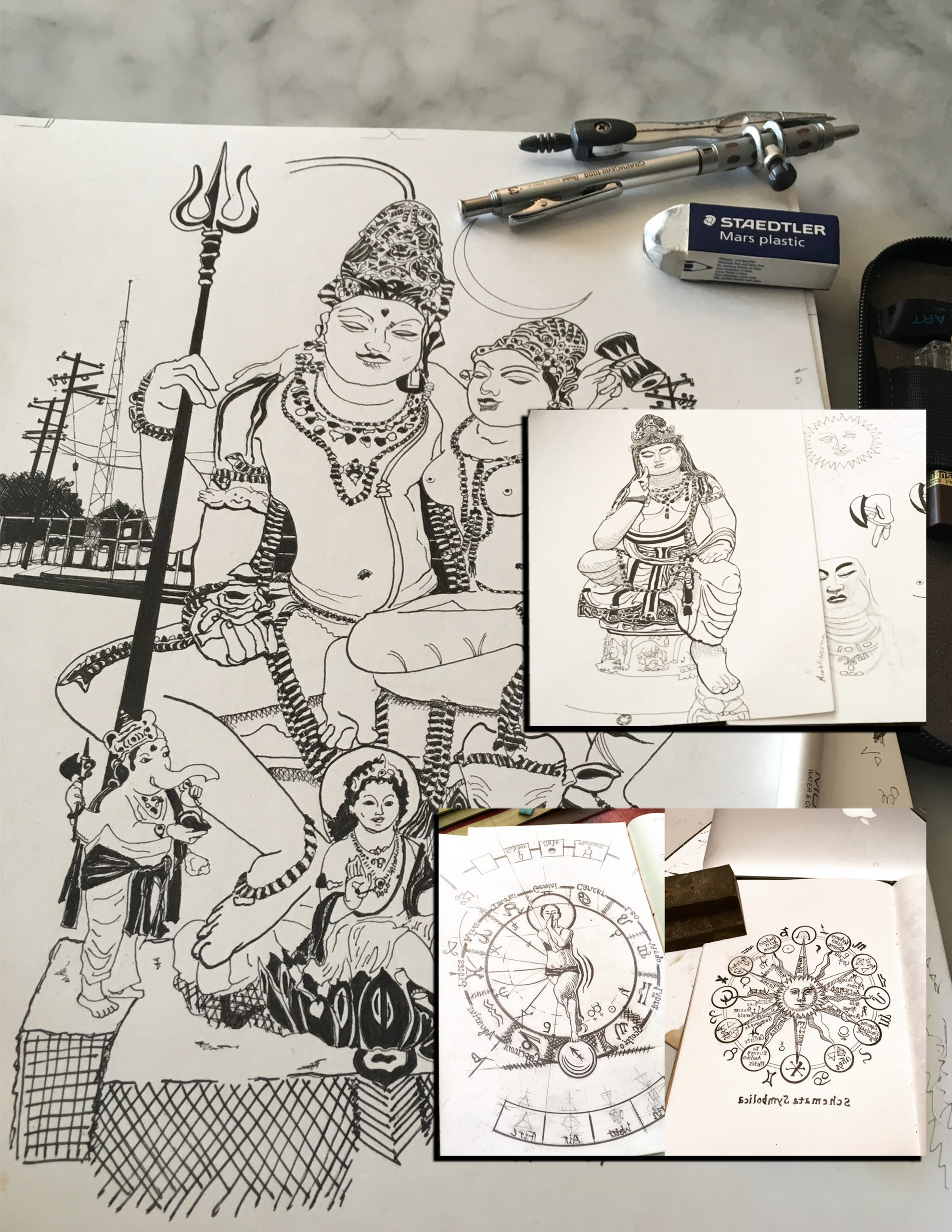 hand drawn images